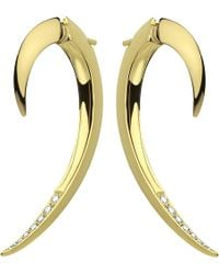 Shaun Leane - Tusk Yellow Gold Vermeil And Diamond Earrings - Lyst