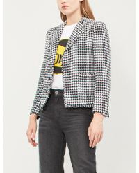 Claudie Pierlot - Virginia Houndstooth Cotton-blend Blazer - Lyst