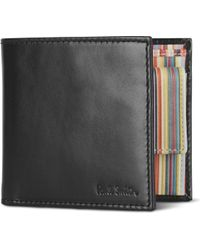 Paul Smith - Interior Multi-striped Billfold Wallet With Coin Pocket - Lyst