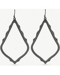 Kendra Scott - Sophee Gunmetal-plated Earrings - Lyst