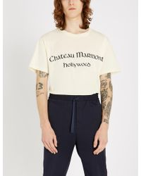 Gucci - Chateau Marmont Hollywood Cotton-jersey T-shirt - Lyst