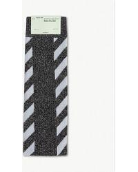 Off-White c/o Virgil Abloh - Diagonal Stripe Cotton-blend Socks - Lyst