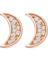 Astley Clarke - Mini Moon Biography Stud Earrings - Lyst