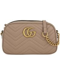 Gucci - Women's Rose Pink Marmont Leather Shoulder Bag - Lyst