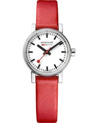 Mondaine - Mse-26110-lc Evo2 Petite Leather And Stainless Steel Watch - Lyst