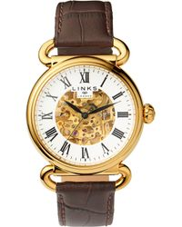 Links of London - 6010.2158 Driver Stainlesss Teel And Leather Skeleton Watch - Lyst