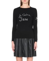Bella Freud - Je T'aime Jane Merino Wool Jumper - Lyst