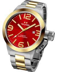TW Steel | Cb71 Canteen Steel And Yellow Gold Watch | Lyst