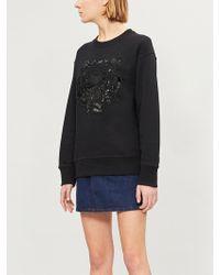 KENZO - Tiger-beaded Cotton-jersey Sweatshirt - Lyst