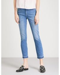 Claudie Pierlot - Released-hem Cropped Skinny Mid-rise Jeans - Lyst