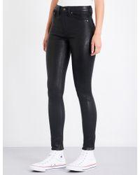 Rag & Bone - Skinny Leather Trousers - Lyst