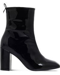 KG by Kurt Geiger - Strut Patent-leather Ankle Boots - Lyst