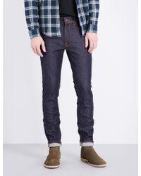 Nudie Jeans - Lean Dean Slim-fit Skinny Jeans - Lyst