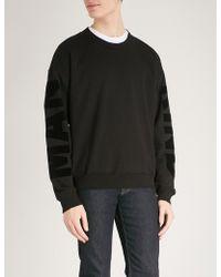 7 For All Mankind - Logo-detail Cotton-jersey Sweatshirt - Lyst