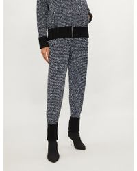 Alessandra Rich - Metallic And Sequin-knit Cashmere-blend Jogging Bottoms - Lyst