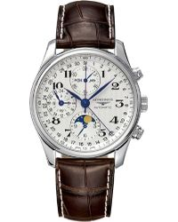 Longines - Men's The Master Collection Brown Leather Strap Watch L26734783 - Lyst