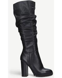 ALDO Ladies Black Gigondra Knee-high Leather Boots
