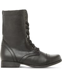 Steve Madden - Troopa Leather Work Boots - Lyst