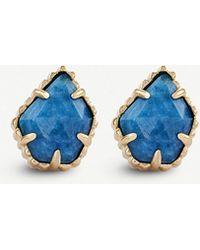 Kendra Scott - Tessa 14ct Rose-gold Plated Earrings - Lyst