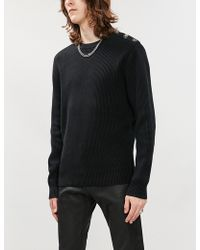 The Kooples - Button Trim Cotton-knit Jumper - Lyst