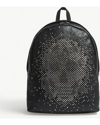 Alexander McQueen - Black Stud Skull Grained Leather Backpack - Lyst