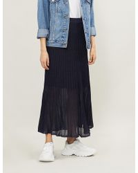 Sandro - Emanuelle Metallic Knitted Skirt - Lyst