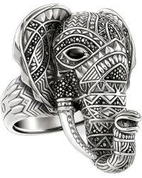 Thomas Sabo - Elephant Head Sterling Silver Ring - Lyst