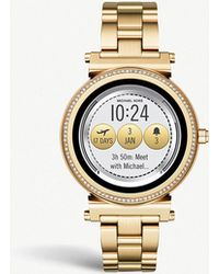 Michael Kors - Mkt5021 Sofie Yellow-gold Plated Stainless Steel And Pavé Watch - Lyst