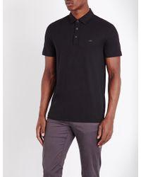 Michael Kors - Short-sleeved Cotton-jersey Polo Shirt - Lyst