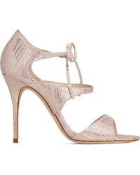 88d899f7e296 L.K.Bennett Karlie Beige High Heel Sandals in Natural - Lyst