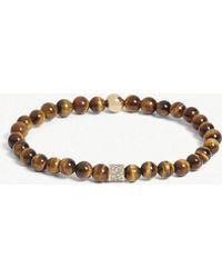 Nialaya - Tiger Eye Bead Bracelet - Lyst