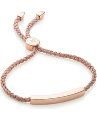 Monica Vinader - Linear 18ct Rose Gold-plated Woven Friendship Bracelet - Lyst