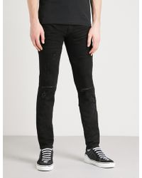 Givenchy | Distressed Slim-fit Skinny Jeans | Lyst