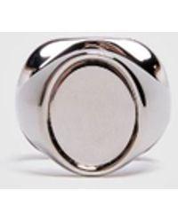 Maison Margiela - Silver Signet Ring - Lyst