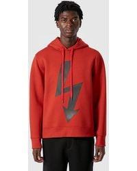 Neil Barrett - Arrow Bolt Hooded Sweatshirt - Lyst