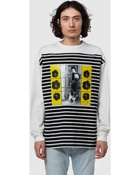 JW Anderson Gilbert And George Print T-shirt - Blue