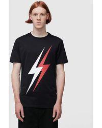 Neil Barrett Double Bolt T Shirt - Black