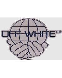 Off-White c/o Virgil Abloh - Worlds Silver Pin - Lyst