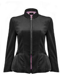 Shanghai Tang - Velvet Mandarin Collar Jacket - Lyst
