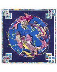 Shanghai Tang - Pacific Print Silk Foulard - Lyst