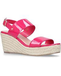 Carvela Kurt Geiger - Pink 'bless' Mid Heel Wedge Sandals - Lyst