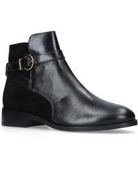 Carvela Kurt Geiger - Black 'titan' Flat Ankle Boots - Lyst
