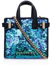 Kurt Geiger - Sequins Micro London Tote Bag - Lyst