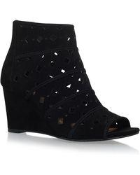 MICHAEL Michael Kors - Uma Perforated High Wedge Heel Sandals - Lyst