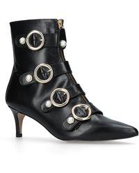 7ecfbbd1843d Carvela Kurt Geiger - Black  sparky  Mid Heel Ankle Boots - Lyst