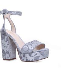 Nine West - Grey 'krewl' Ankle Strap Sandals - Lyst
