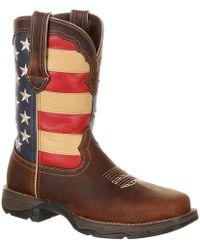 Durango - Lady Rebel Steel Toe Patriotic Flag Work Boot - Lyst