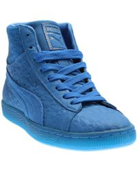 e9c04e4d91b Lyst - Puma Suede Classic Mono Ref Iced Low Top Sneaker in Blue for Men