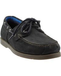 Timberland - Piper Cove Leather Boat Shoe (black Nubuck) Men's Lace Up Casual Shoes - Lyst