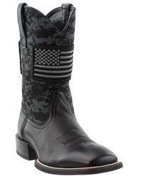 6c36347205d6b Ariat Sport Patriot Round Toe (black Deertan/black Ops Camo) Cowboy ...